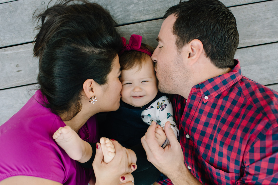 Houston newborn outdoor family photography session